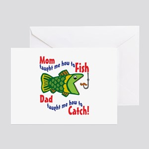 Dad Mom Fishing Greeting Cards (Pk of 10)
