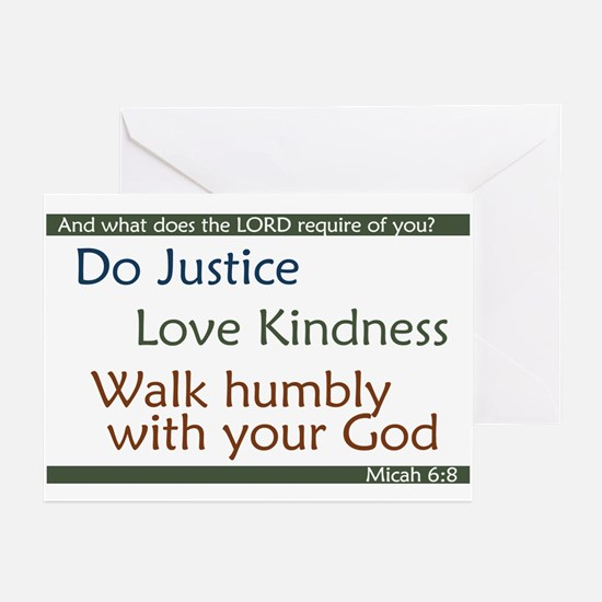 Micah 6:8 Greeting Cards (Pk of 10)
