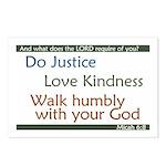 Micah 6:8 Postcards (Package of 8)