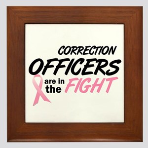 Correction Officers In The Fight Framed Tile