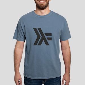 black haskell logo gray shirt unisex tri blend t s