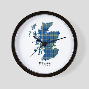 Map-Platt Wall Clock