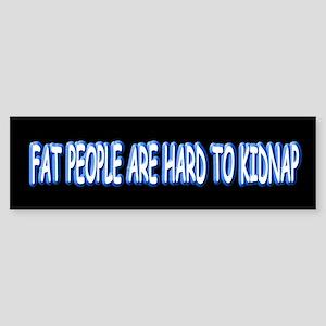 Fat People Sticker (Bumper)