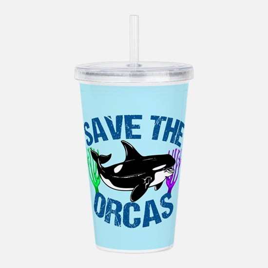 Save the Orcas Acrylic Double-wall Tumbler