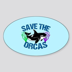 Save the Orcas Sticker (Oval)
