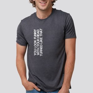 Funny, Head Turned, Women's Dark T-Shirt