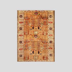 Indian Agra Carpet 5'x7'Area Rug