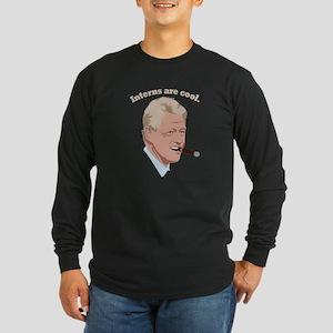 Interns are cool. Long Sleeve Dark T-Shirt