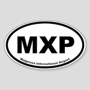 Malpensa International Airport Oval Sticker