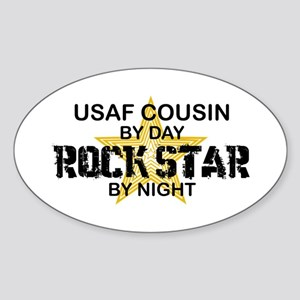 USAF Cousin Rock Star by Night Oval Sticker
