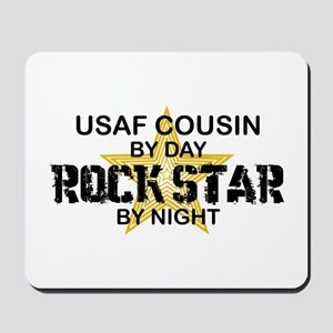 USAF Cousin Rock Star by Night Mousepad