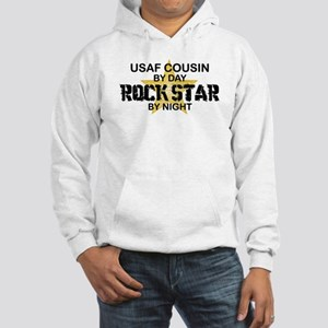 USAF Cousin Rock Star by Night Hooded Sweatshirt