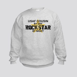 USAF Cousin Rock Star by Night Kids Sweatshirt