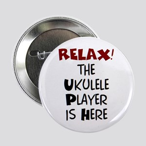 "ukulele player here 2.25"" Button"