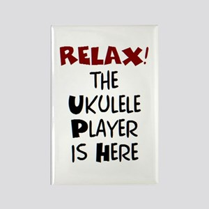 ukulele player here Rectangle Magnet