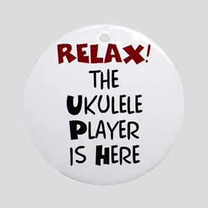 ukulele player here Ornament (Round)