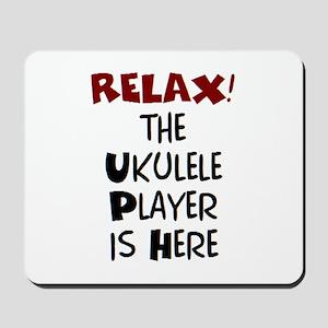 ukulele player here Mousepad