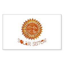 Solar Sister Rectangle Sticker
