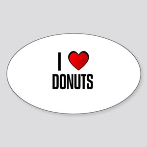 I LOVE DONUTS Oval Sticker