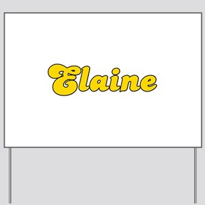 Retro Elaine (Gold) Yard Sign