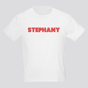 Retro Stephany (Red) Kids Light T-Shirt