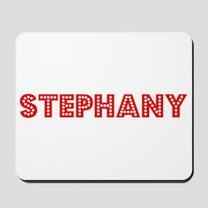 Retro Stephany (Red) Mousepad