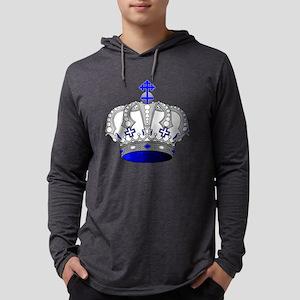 Silver & Blue Royal Crown Long Sleeve T-Shirt