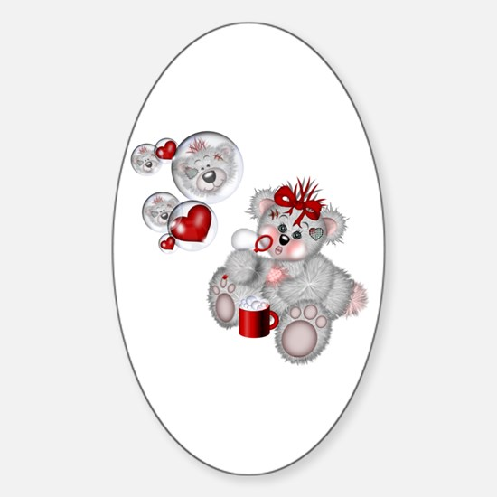 BLOWING BUBBLES Oval Decal