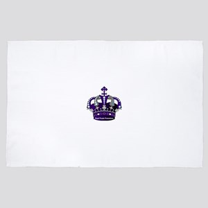 Purple Royal Crown 4' x 6' Rug