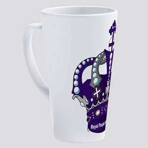 Purple Royal Crown 17 oz Latte Mug