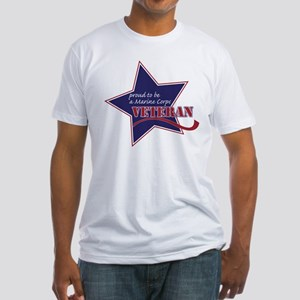 Proud Marine Corps Veteran Fitted T-Shirt