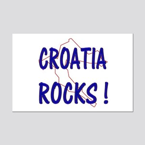 Croatia Rocks ! Mini Poster Print