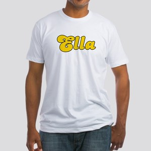 Retro Ella (Gold) Fitted T-Shirt