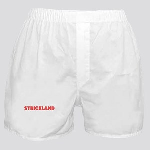 Retro Strickland (Red) Boxer Shorts