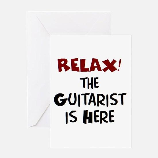 guitarist here Greeting Card