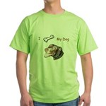 Puppy Love Green T-Shirt