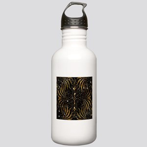 Black and Gold Victori Stainless Water Bottle 1.0L