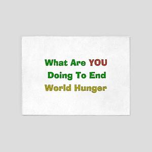 World Hunger 5'x7'Area Rug