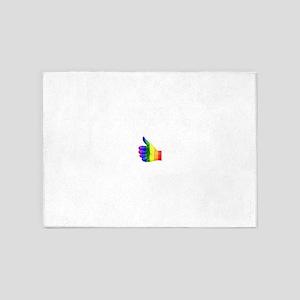 Thumbs-Up Rainbow 5'x7'Area Rug
