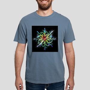 Rainbow Snowflake (Black) T-Shirt
