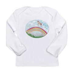 Pony Jumping Over The Rainbow Long Sleeve T-Shirt