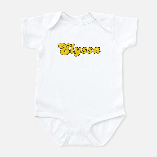Retro Elyssa (Gold) Infant Bodysuit