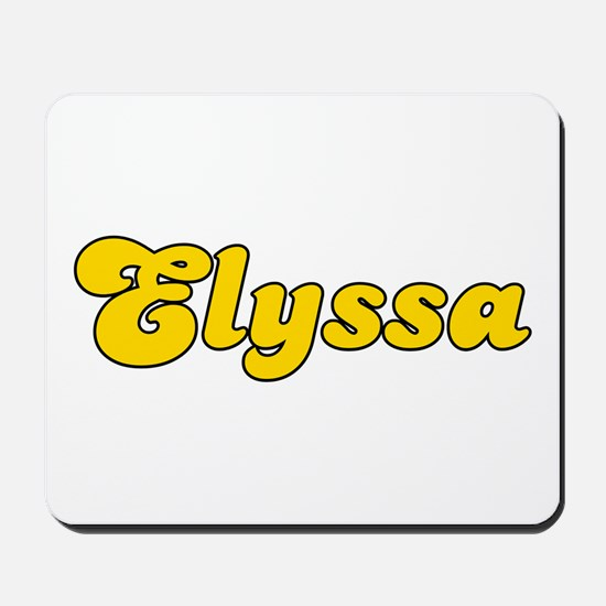 Retro Elyssa (Gold) Mousepad