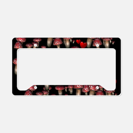 Mushrooms and Hearts License Plate Holder