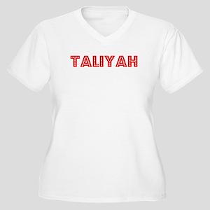 Retro Taliyah (Red) Women's Plus Size V-Neck T-Shi