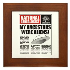 Ancestors Were Aliens Framed Tile