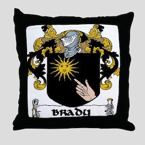 Brady Coat of Arms Throw Pillow
