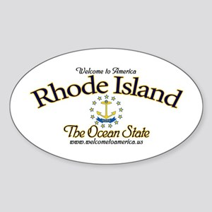 Rhode Island Oval Sticker