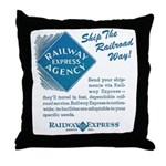 Railway Express Throw Pillow