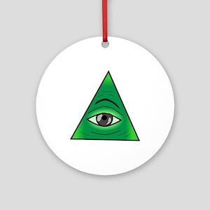 Illuminati Society Ornament (Round)